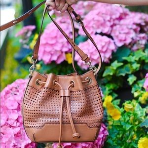 Rebecca Minkoff Perforated Leather bucket bag